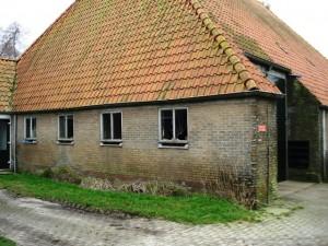 foto voor het gevel stralen van een boerderij